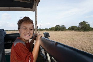 We went on a safari