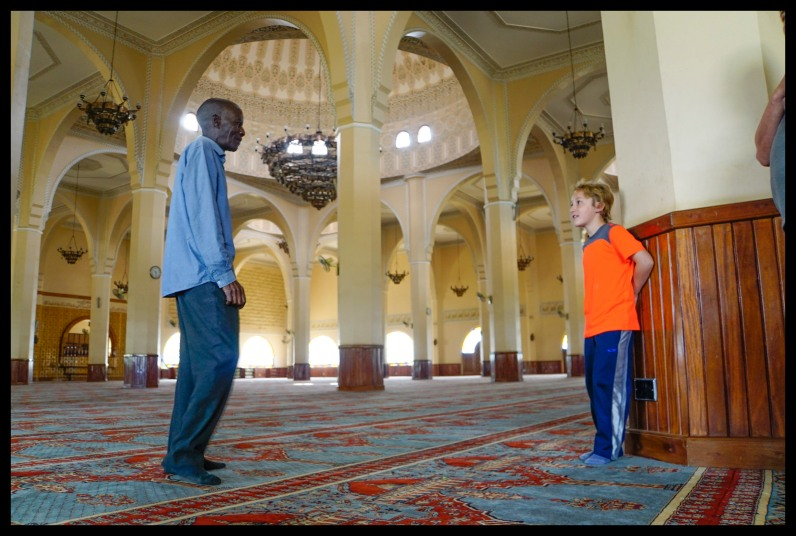 At the National Mosque