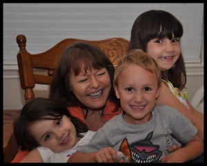 My Granny with me and my cousins