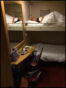 Sleeping on the Ferry to Kos