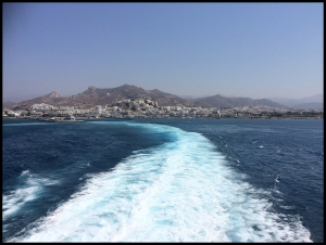 View from Ferry to Santorini