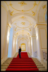 Bratislava - The Grans Staircase inside Bratislava Castle