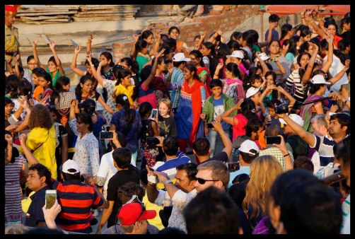 Wagah Border dance party. Can you spot me?