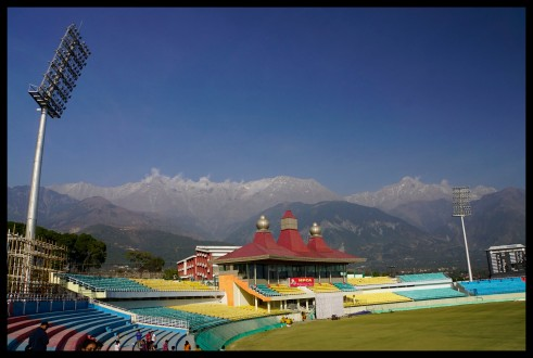 Cricket Stadium in Dharamsala
