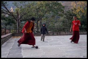 Soccer with Monks