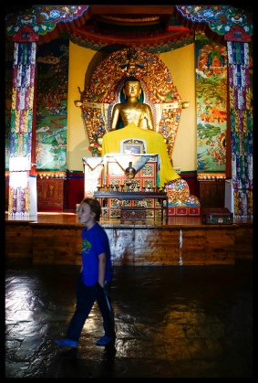 Checkin out the temple at Norbulingka