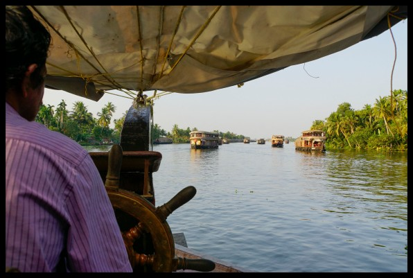 The backwaters from our houseboat