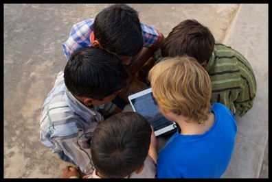 Introducing video games to the village kids