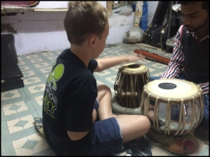 Jammin' on the tablas!