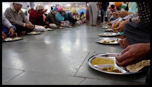 Delhi - Langer at the gurdwara