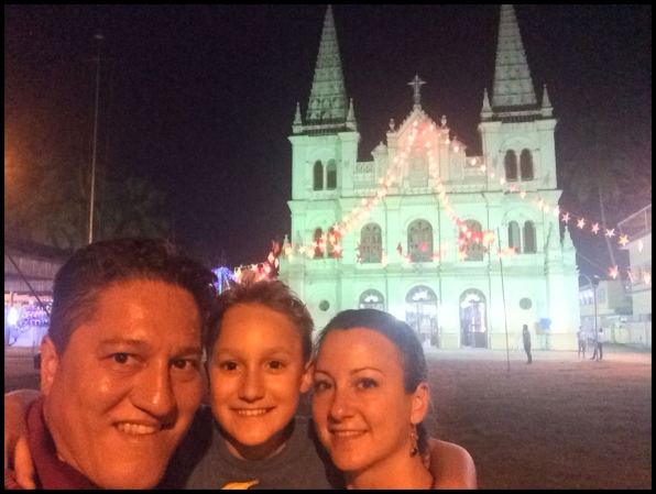Santa Cruz Cathedral all lit up!