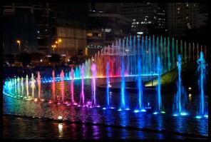 Amazing Petronas Light Show!