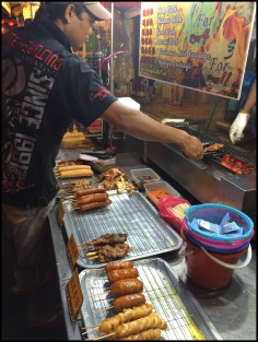 Street Food - Meat on a stick