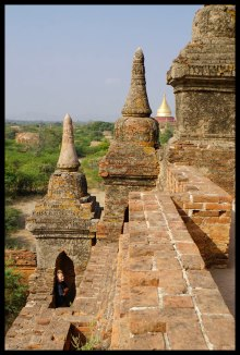 Running around on the pagodas was a lot of fun!
