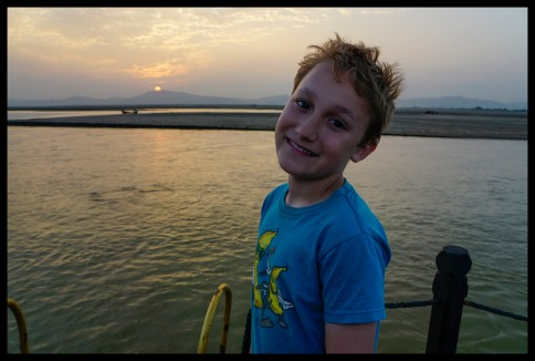 Sunset boatride on the Ayeyarwady river