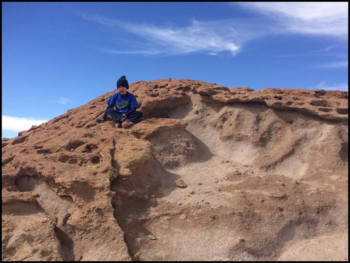 Climbing Lava rocks