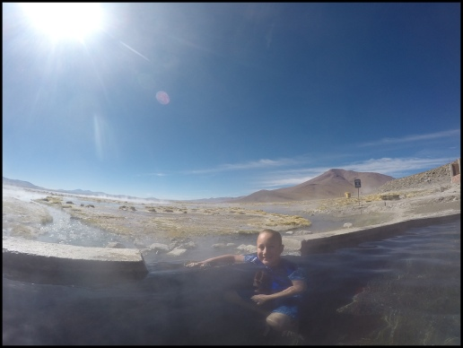 Relaxing the the hot springs
