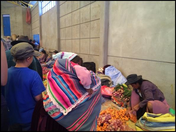 Market scene in Tarabuco.