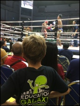 Watching Muay Thai