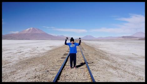 Train tracks that carry train hauling minerals