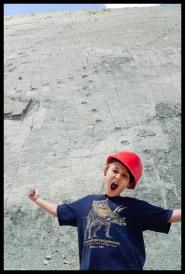 Dino tracks up the wall - Dino Park