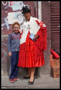 Met this cholita on the street in La Paz