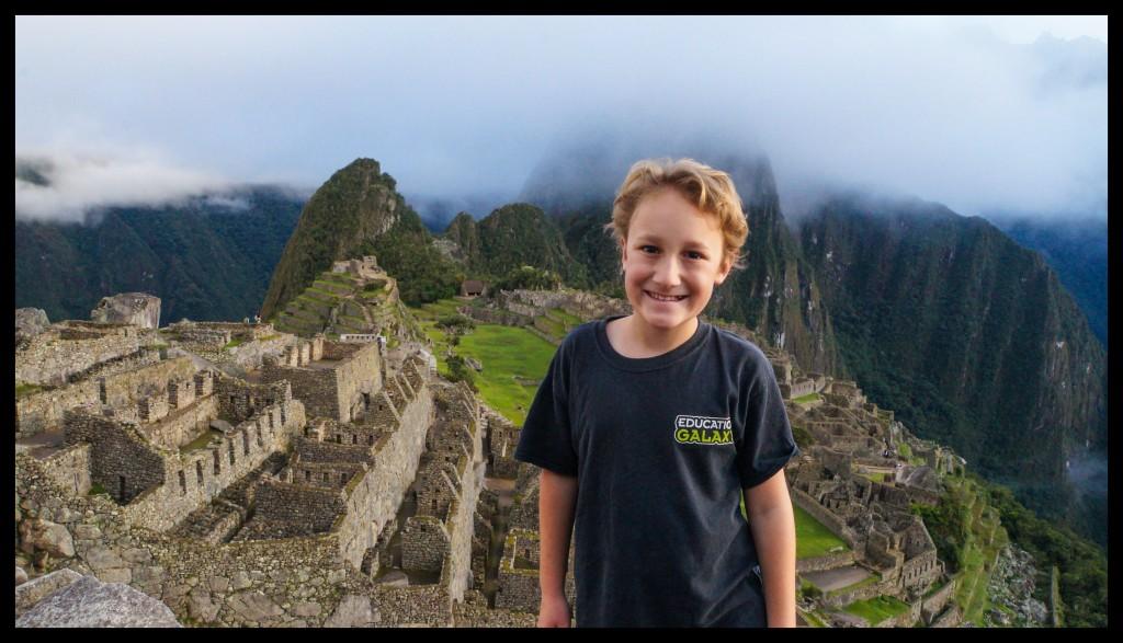 James at Machu Picchu