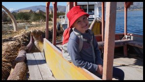 A ride in a Traditional Boat made from reeds