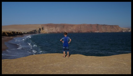 Checkin out the red sand beach