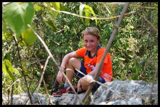 Climbing that mountain was hard work!
