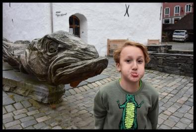 Being goofy in Bryggen