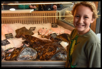 Goofin in the fish market