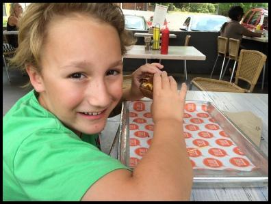 Enjoying some Yeah! Burger...mmmmmmmm