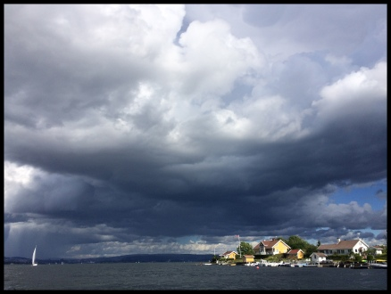 A threating storm over the fjord