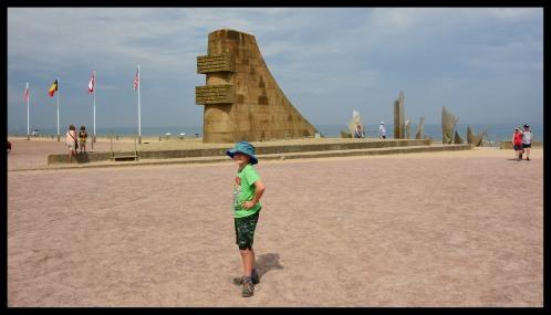 Omaha Beach Landing Monument