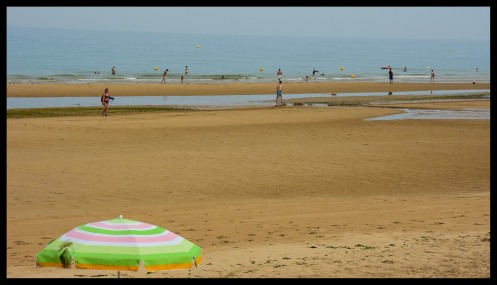Omaha Beach today - just a normal beach where people enjoy themselves