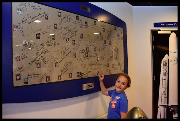 Astronauts' autographs.