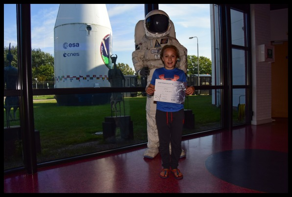 Official astronaut certificate