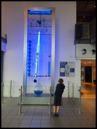 A huge clock that tells time with water by using gravity!