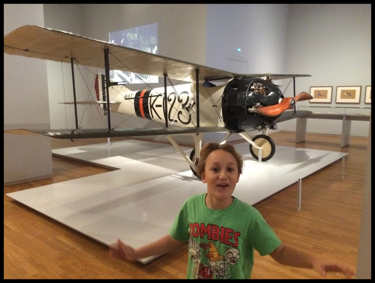 They got a plane in the museum!