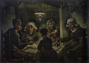 The Potato Eaters, 1885, Van Gogh Museum, 114 x 82 cm, Amsterdam, Netherlands.