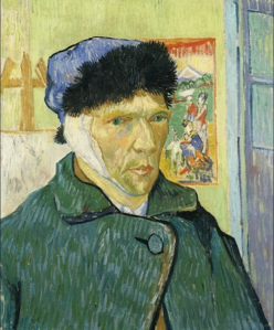 Self-Portrait with Bandaged Ear, 1889, 370 × 450, Courtauld Institute of Art