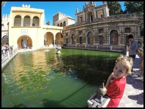 Inside the Real Alcázar palace.