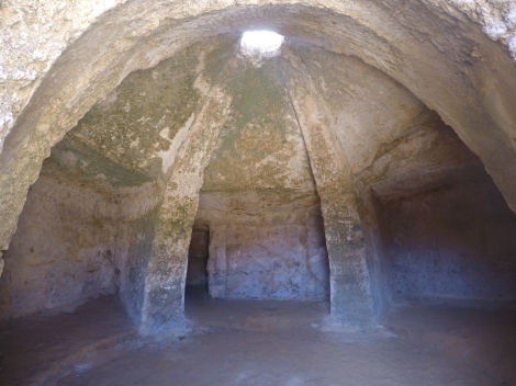 Inside one of the tombs of the necropolis.