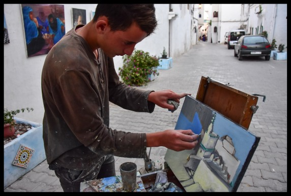 Street artist in the Kasbah
