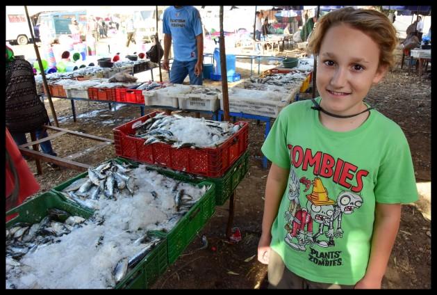 Lots of fish to buy at the Berber market