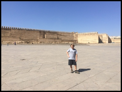 In front of the old Fes wall