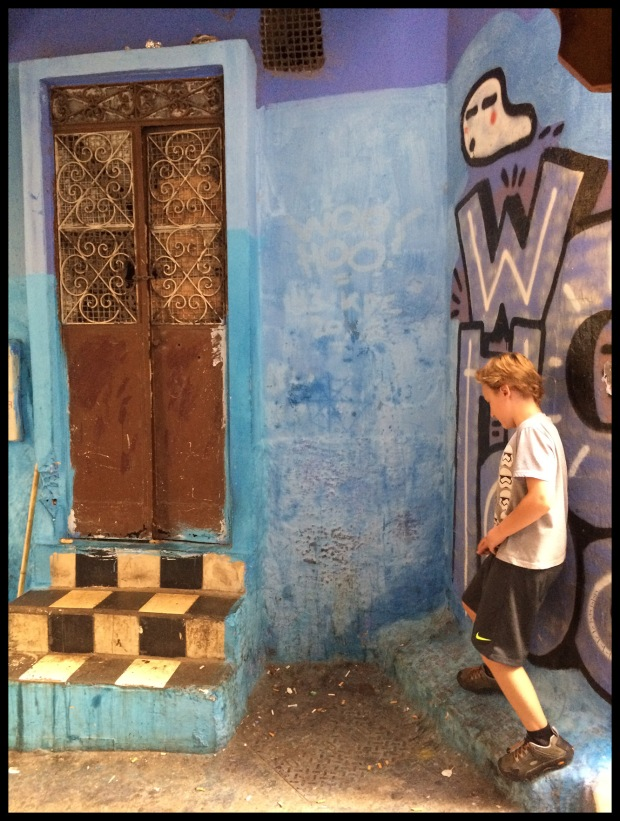 Exploring the narrow streets of Tangier