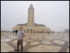Inside the amazing King Hassan II Mosque
