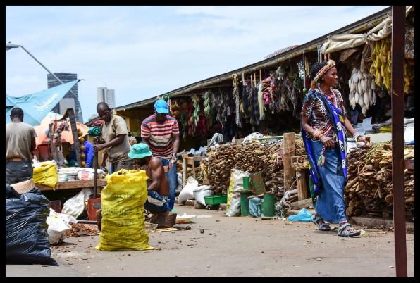 Herb Market Scene